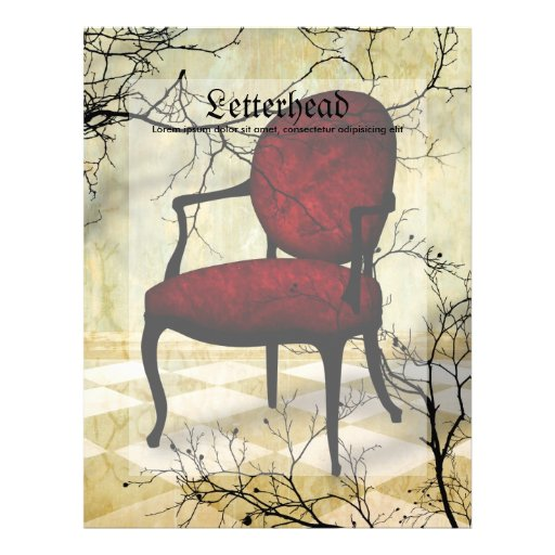 Royal Chair with Branches Letterhead Design