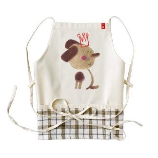 Royal chocolate puppy costume zazzle HEART apron