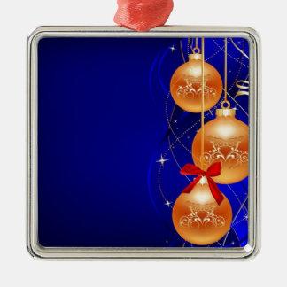 Royal Christmas Square Metal Christmas Ornament