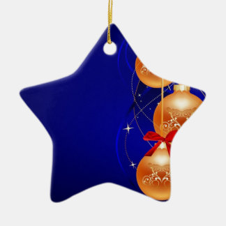 Royal Christmas Double-Sided Star Ceramic Christmas Ornament