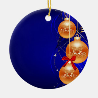 Royal Christmas Double-Sided Ceramic Round Christmas Ornament