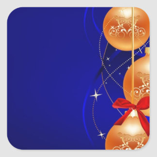 Royal Christmas Square Sticker