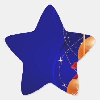 Royal Christmas Star Sticker
