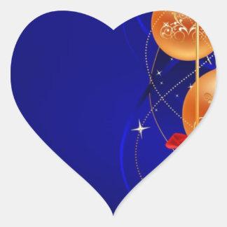 Royal Christmas Heart Sticker