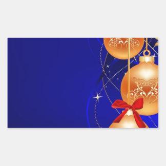 Royal Christmas Rectangular Sticker