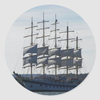 Royal Clipper Under Sail Classic Round Sticker