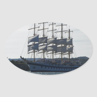 Royal Clipper Under Sail Oval Sticker