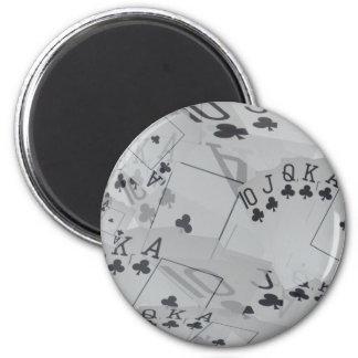 Royal Club Flush Poker Cards Pattern, Magnet