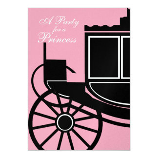 Royal Coach/ Birthday Party 5x7 Paper Invitation Card
