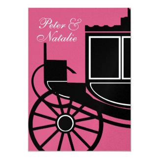 Royal Coach/ Engagement Party 5x7 Paper Invitation Card