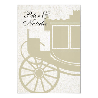 Royal Coach/ Party 5x7 Paper Invitation Card
