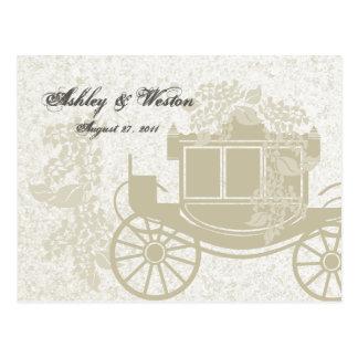 Royal Coach Wedding Response Postcard