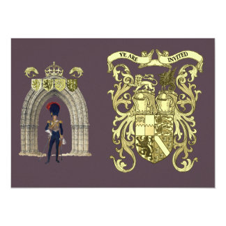 Royal Coat Of Arms And Victorian Guard Card