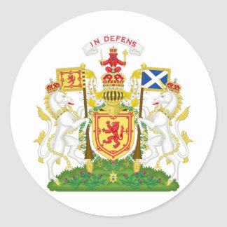 Royal Coat of Arms of the Kingdom of Scotland Classic Round Sticker