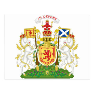 Royal Coat of Arms of the Kingdom of Scotland Postcard