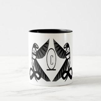 royal cobras (black) Two-Tone coffee mug