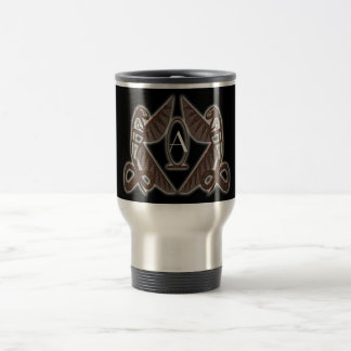 royal cobras (gold) 15 oz stainless steel travel mug