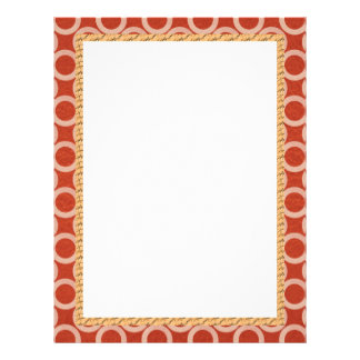ROYAL Color Circles : Gold n Rich Red Energy Letterhead