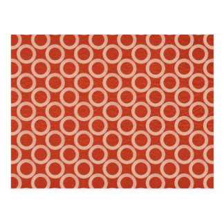 ROYAL Color Circles : Gold n Rich Red Energy Postcard