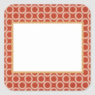 ROYAL Color Circles : Gold n Rich Red Energy Square Sticker