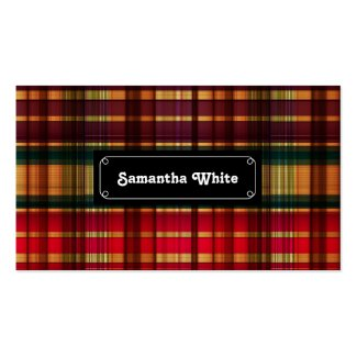 Royal colorful tartan pattern Double-Sided standard business cards (Pack of 100)