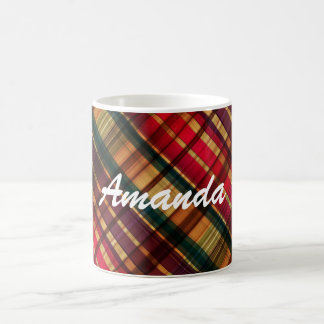 Royal colorful tartan pattern coffee mug