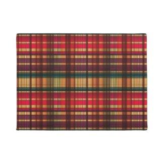 Royal colorful tartan pattern doormat