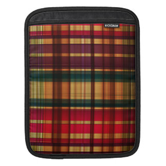 Royal colorful tartan pattern sleeves for iPads