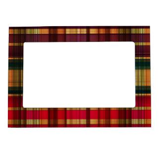 Royal colorful tartan pattern magnetic photo frame