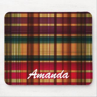 Royal colorful tartan pattern mouse pad