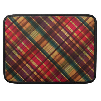 Royal colorful tartan pattern sleeve for MacBooks