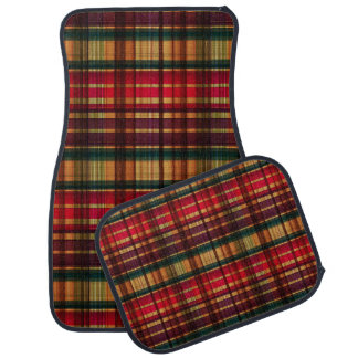 Royal colorful tartan pattern car mat