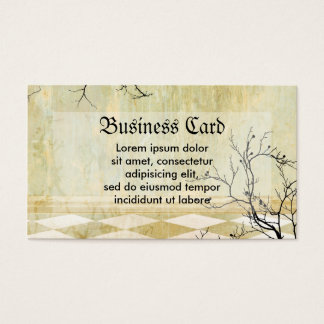 Royal Coordinates Background with Branches Business Card