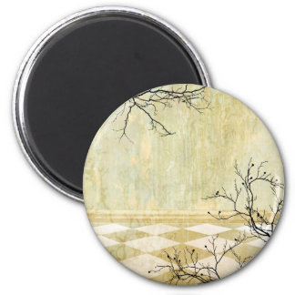 Royal Coordinates Background with Branches Magnet