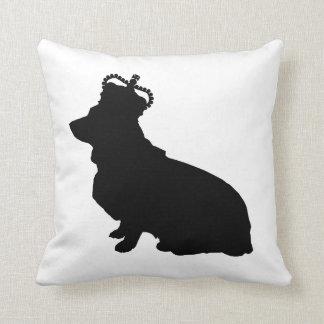 Royal Corgi silhouette pillow