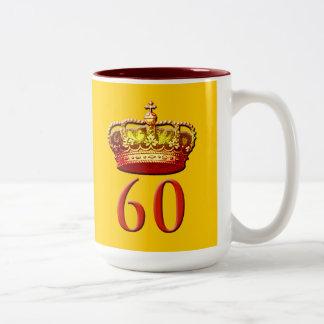Royal Coronet and 60 for the Diamond Jubilee Two-Tone Coffee Mug