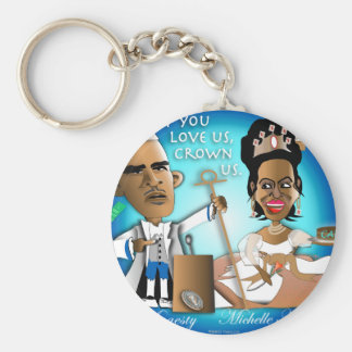 Royal Couple Basic Round Button Keychain
