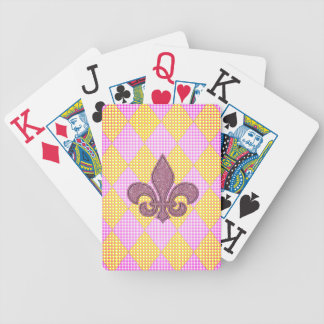 Royal* Court-Cards-Harlequin-Fleur De Lis_PYD Bicycle Playing Cards