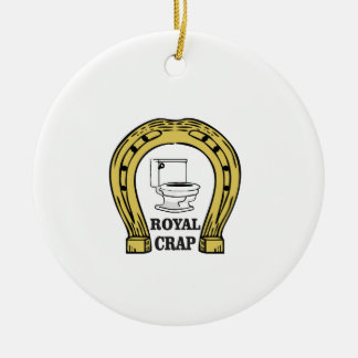 royal crap load ceramic ornament