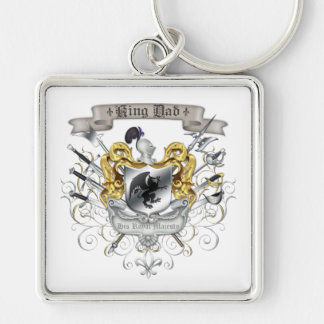 Royal Crest King Dad Father's Day Keychain