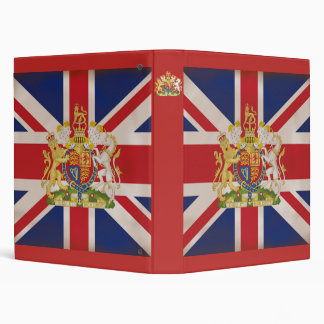 Royal Crest on Union Jack. 3 Ring Binder