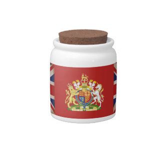 Royal Crest on Union Jack. Candy Dish