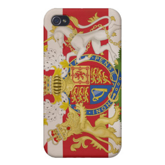 Royal Crest on Union Jack Flag iPhone 4/4S Cases