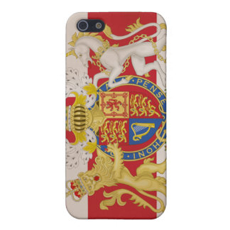 Royal Crest on Union Jack Flag iPhone 5/5S Covers