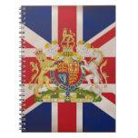 Royal Crest on Union Jack. Spiral Notebook