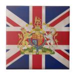 Royal Crest on Union Jack. Tiles