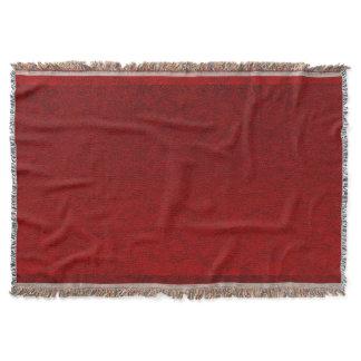 Royal Crimson Velvet Faux Texture Throw Blanket