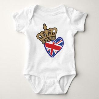 Royal Crowm UK Heart Flag Baby Bodysuit