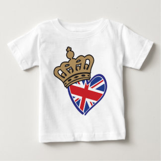 Royal Crowm UK Heart Flag Baby T-Shirt