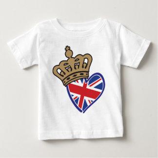 Royal Crowm UK Heart Flag Baby T-Shirt
